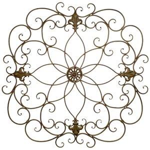 Floral Metal Wall Du00e9cor