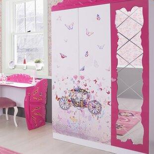 Princess 2 Door Wardrobe by Cloudseller