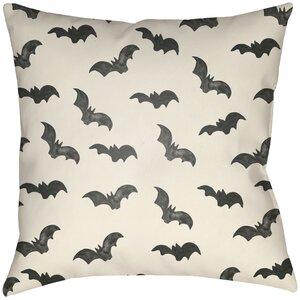Lodge Cabin Bat Indoor/Outdoor Throw Pillow