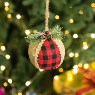 1 plaid ball ornament - Plaid Christmas Tree Decorations