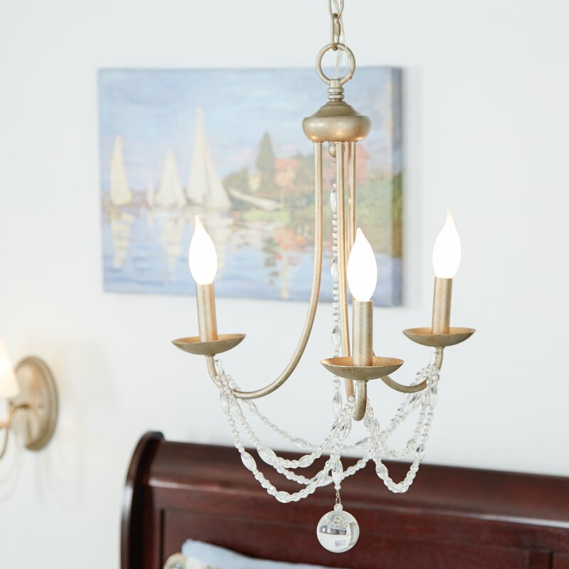 Three posts reynal 3 light crystal chandelier reviews wayfair reynal 3 light crystal chandelier aloadofball Images