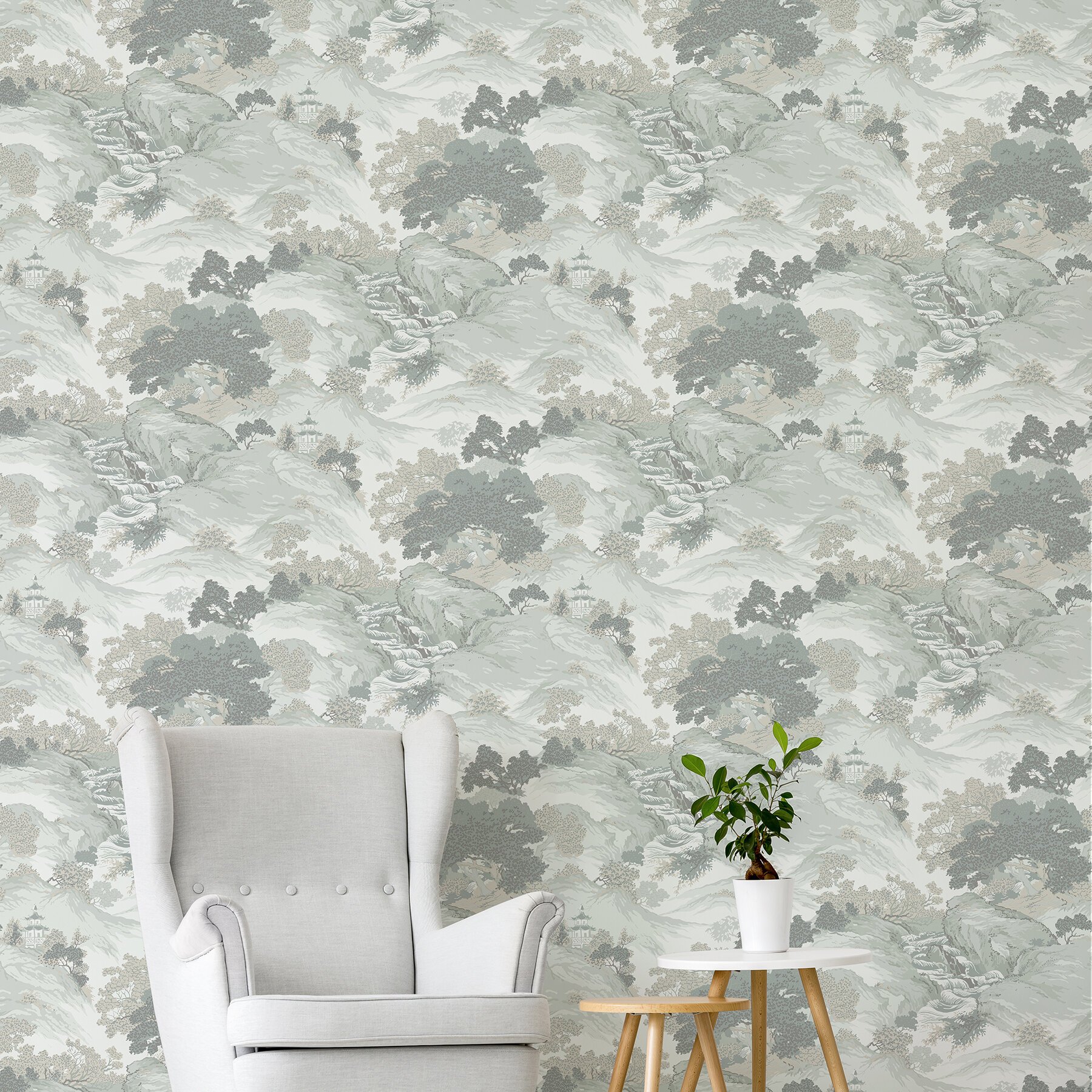 Fakenham Eastern Toile 33 L X 20 5 W Wallpaper Roll