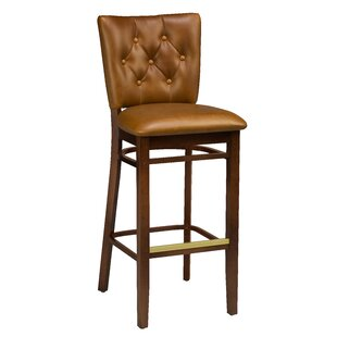 Beechwood Button Tufted Bar Stool