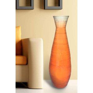 Tall Trumpet Bamboo Floor Vase
