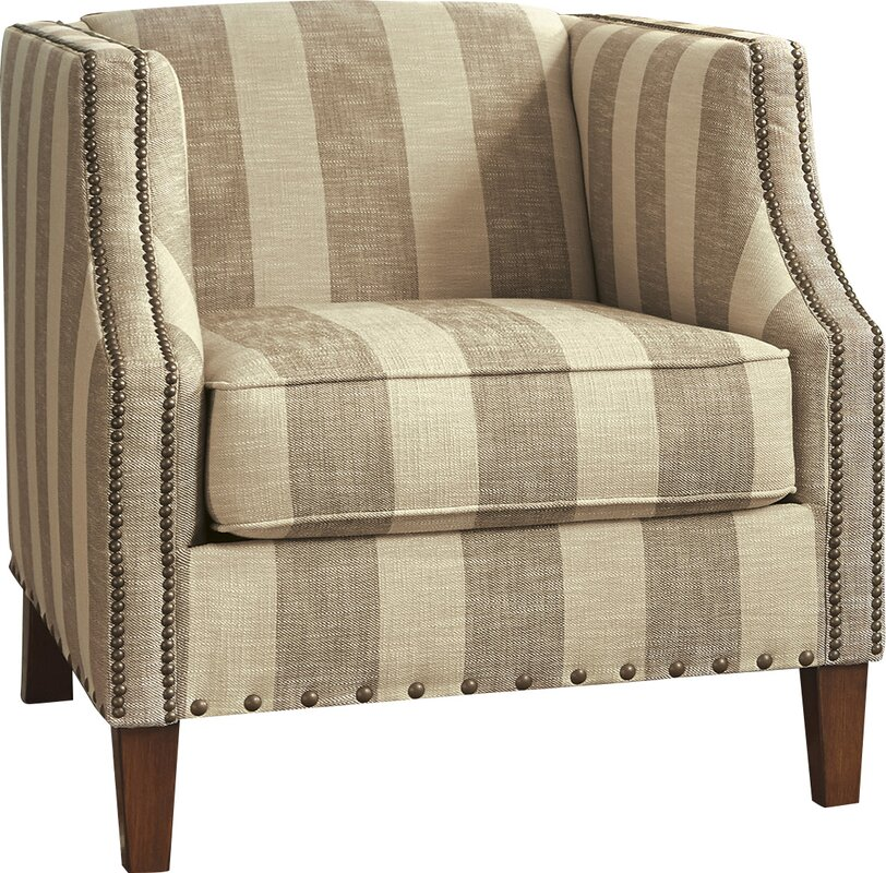 Wonderful Tallmadge Striped Armchair