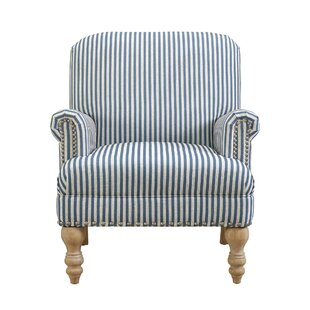 Charming Striped Accent Armchair