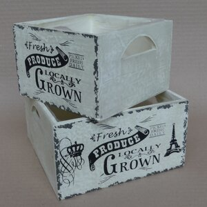 2-tlg. Kisten-Set Rustic von Home Loft Concept