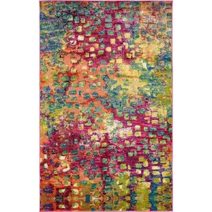 Maoud Pink Green Area Rug