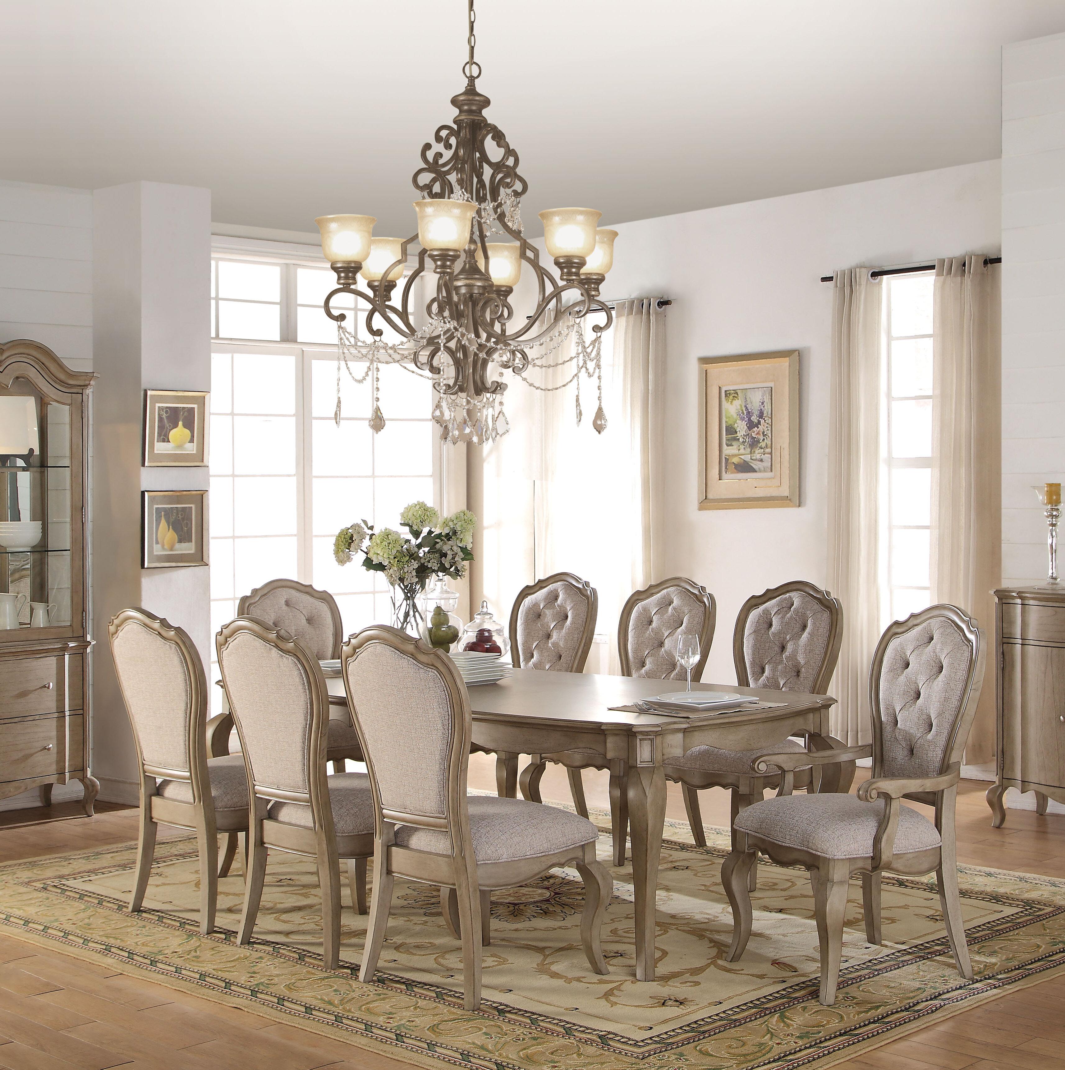 One Allium Way Donatella 9 Piece Extendable Dining Set & Reviews ...