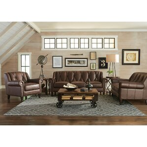 Lucas Leather Configurable Living Room Set by Williston Forge