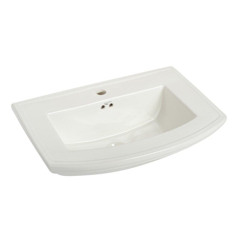 Barrett Vitreous China 34 Pedestal Bathroom Sink With Overflow