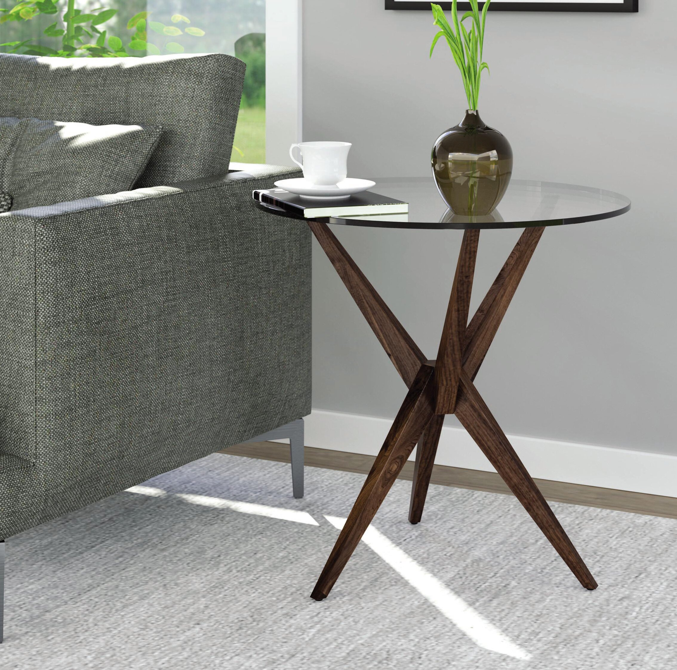 Copeland furniture converge statements end table wayfair