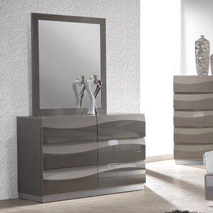Clayfield 6 Drawer Dresser with Mirror by Wade Logan