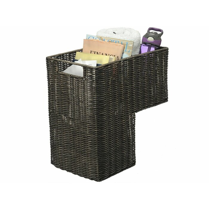 Wicker Stair Step Basket