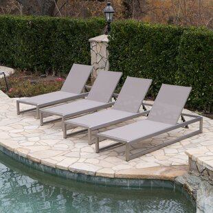 Roberson Outdoor Mesh Chaise Lounge Set Of 4