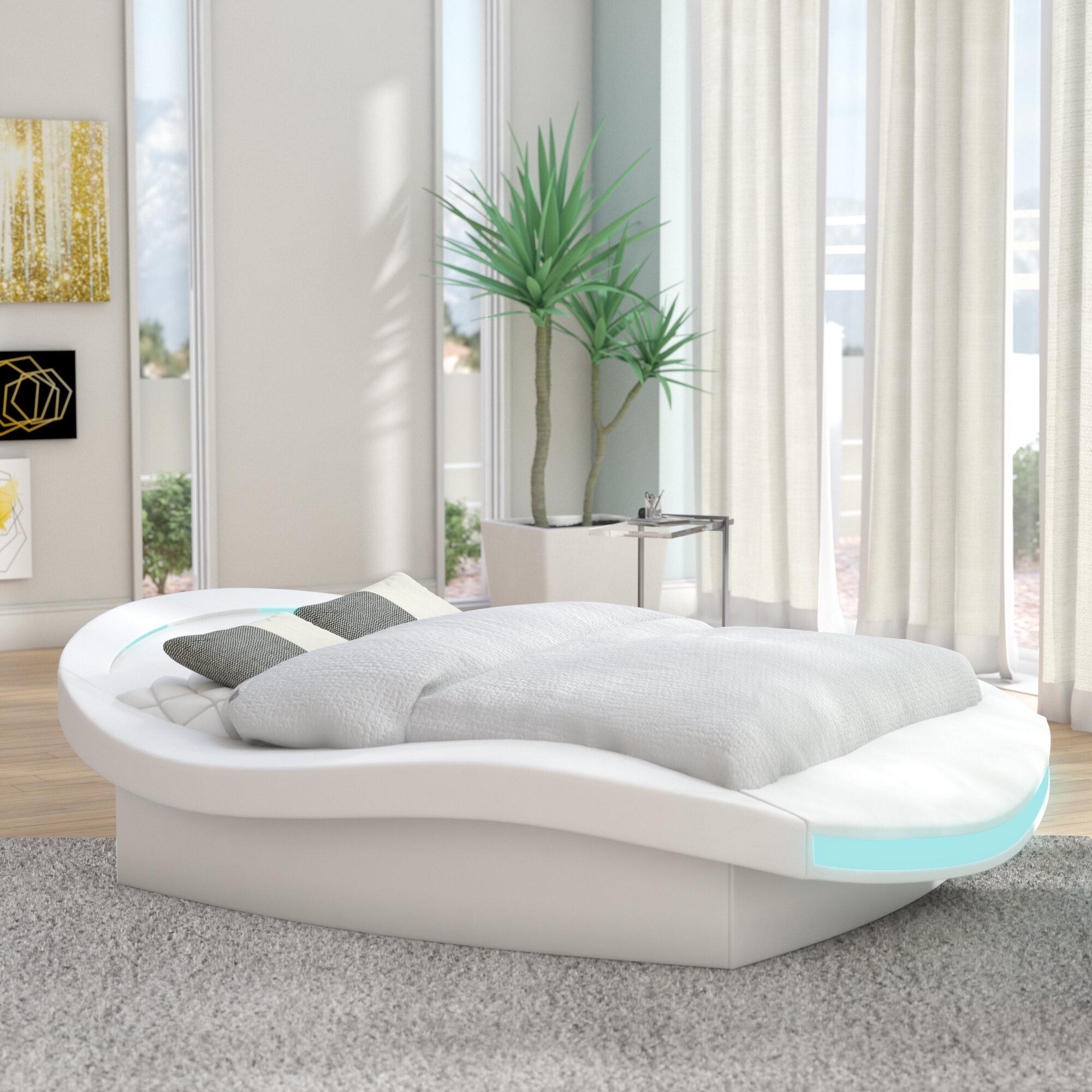 Orren Ellis Bangor Modern European Kingsize Upholstered Platform Bed |  Wayfair