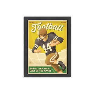 Man Cave Football New Framed Vintage Adver