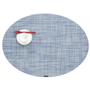 Mini Basketweave Oval Table Placemat