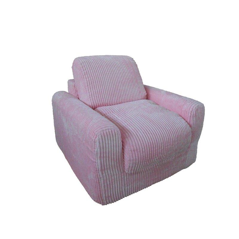 Fun Furnishings Chenille Kids Foam Chair   Wayfair