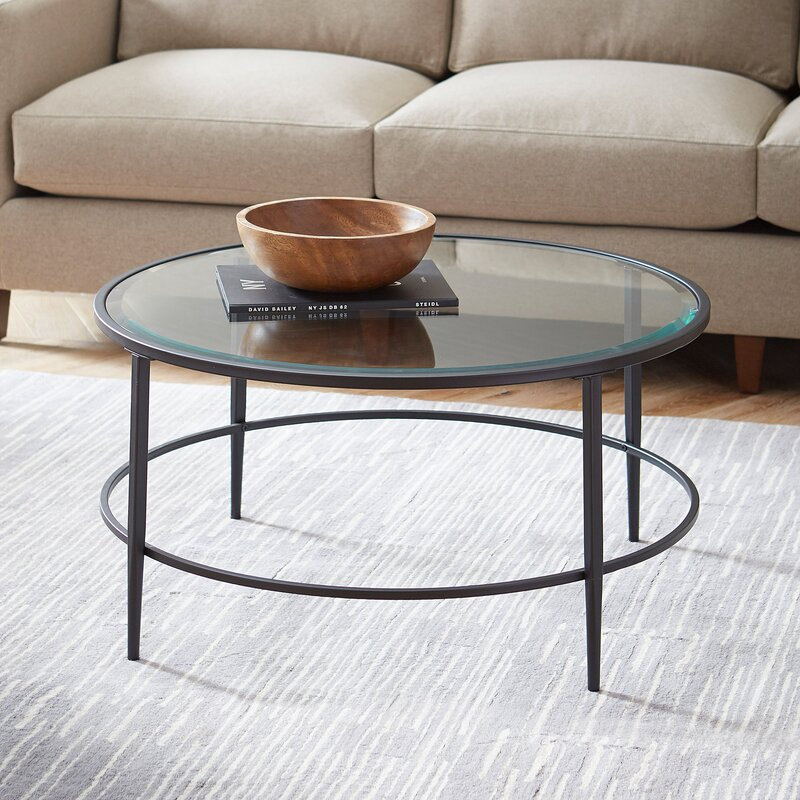 Birch lane harlan round coffee table reviews wayfair for Round table 85 ortenau