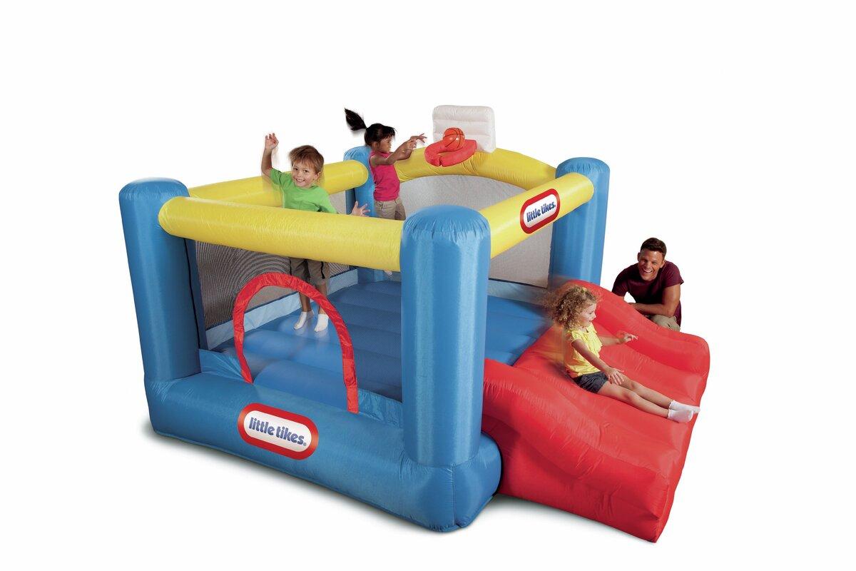 Little Tikes Jump \'n Slide Dry Bounce House & Reviews | Wayfair