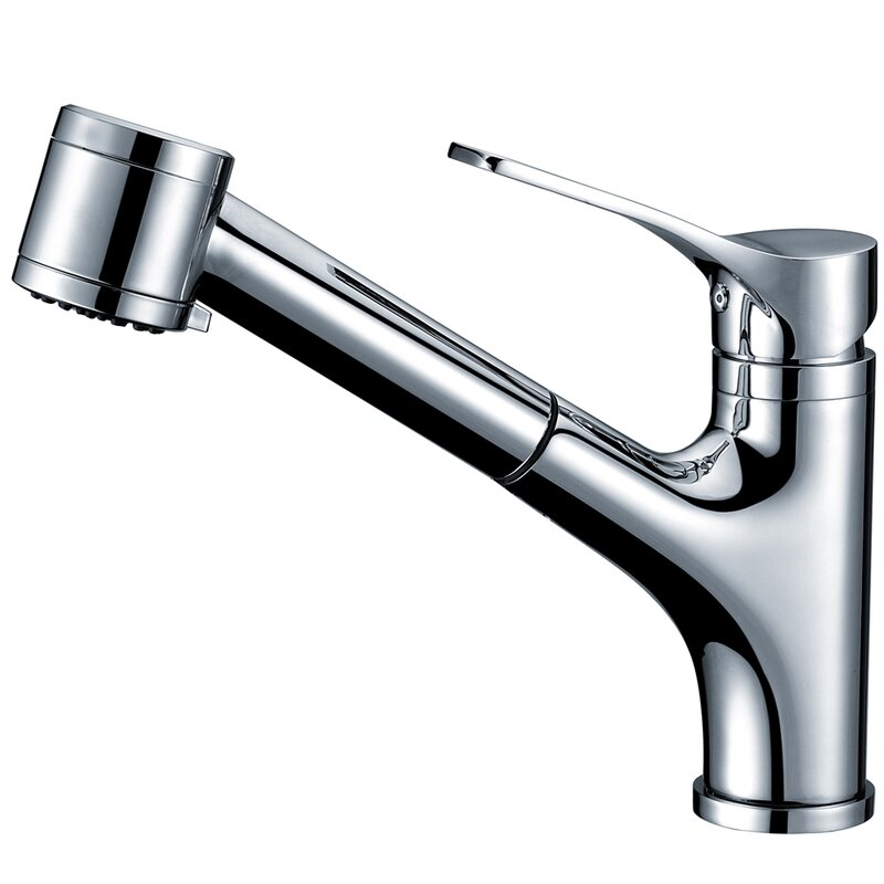 Single Handle Deck Mount Kitchen Faucet With Pull Out Spray