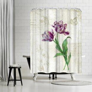 Harrison Ripley Vintage Tulips Shower Curtain