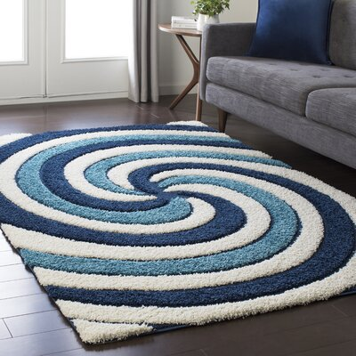 turquoise blue shag rug zipcode design burns block striped waves contemporary white