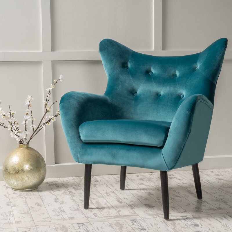 Willa arlo interiors bouck wingback chair reviews wayfair for How to make a wingback chair