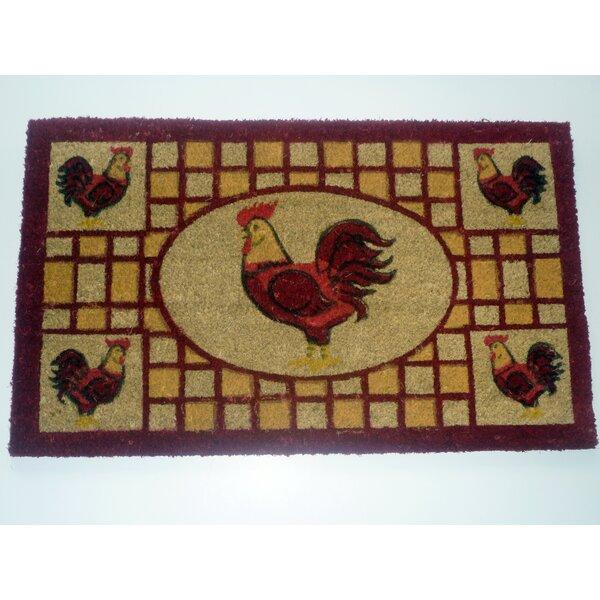 Geo Crafts Rooster Doormat