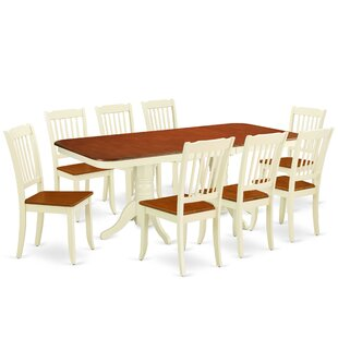 Lafon 9 Piece Extendable Solid Wood Dining Set