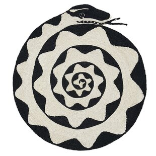One Of A Kind Espiral Snake 3 8 Black Beige Area Rug By Schumacher