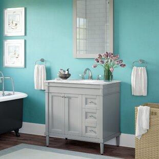 Millfield 37 Single Bathroom Vanity Set With Mirror