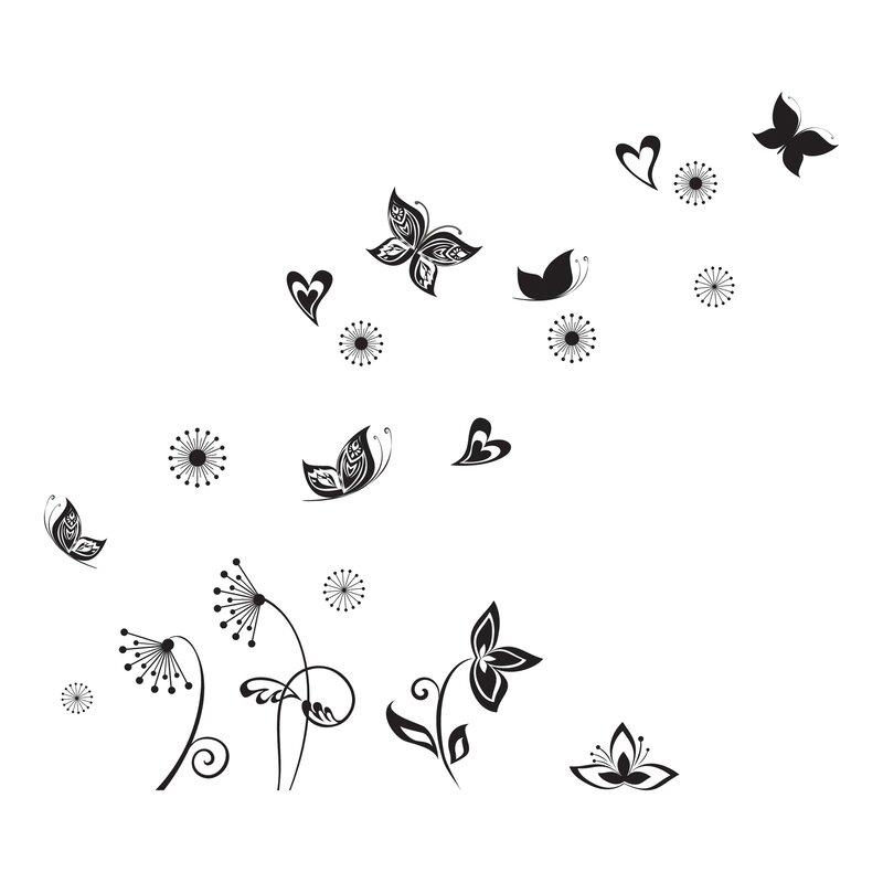 Home Decor Line Butterflies Silhouette Wall Decal