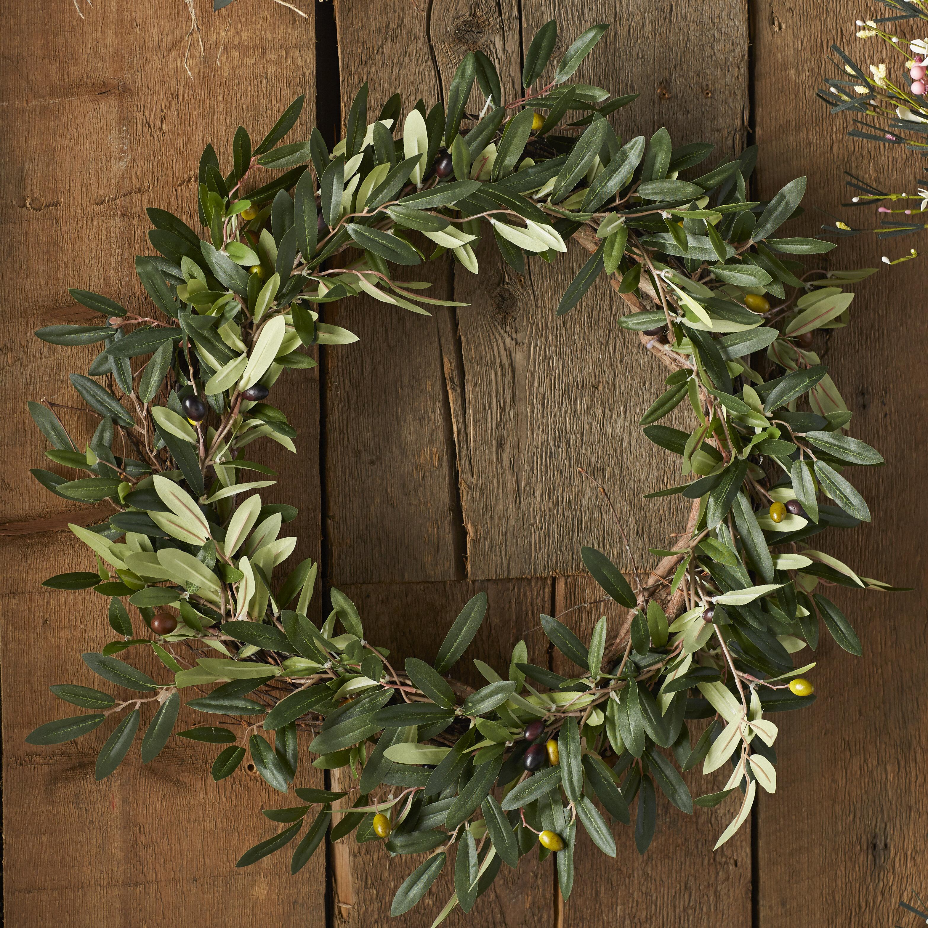Faux olive stems wayfair 20 faux olive branch wreath reviewsmspy