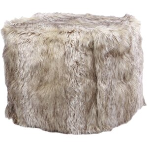 Faux Kitt Fox Pouf Ottoman by Best Home Fashion, Inc.