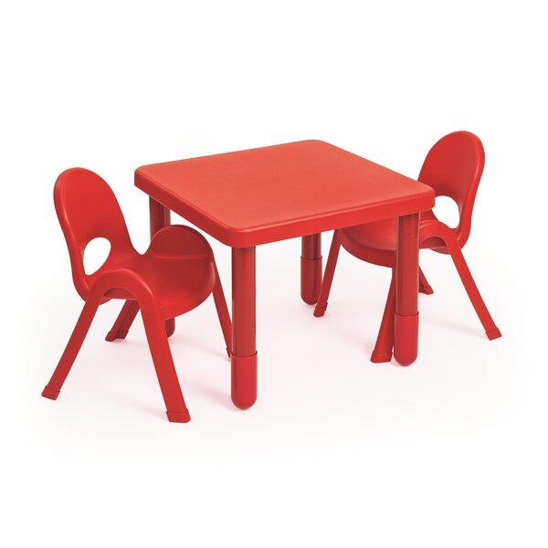 Angeles MyValue Set Kids 3 Piece Square Writing Table Set U0026 Reviews |  Wayfair