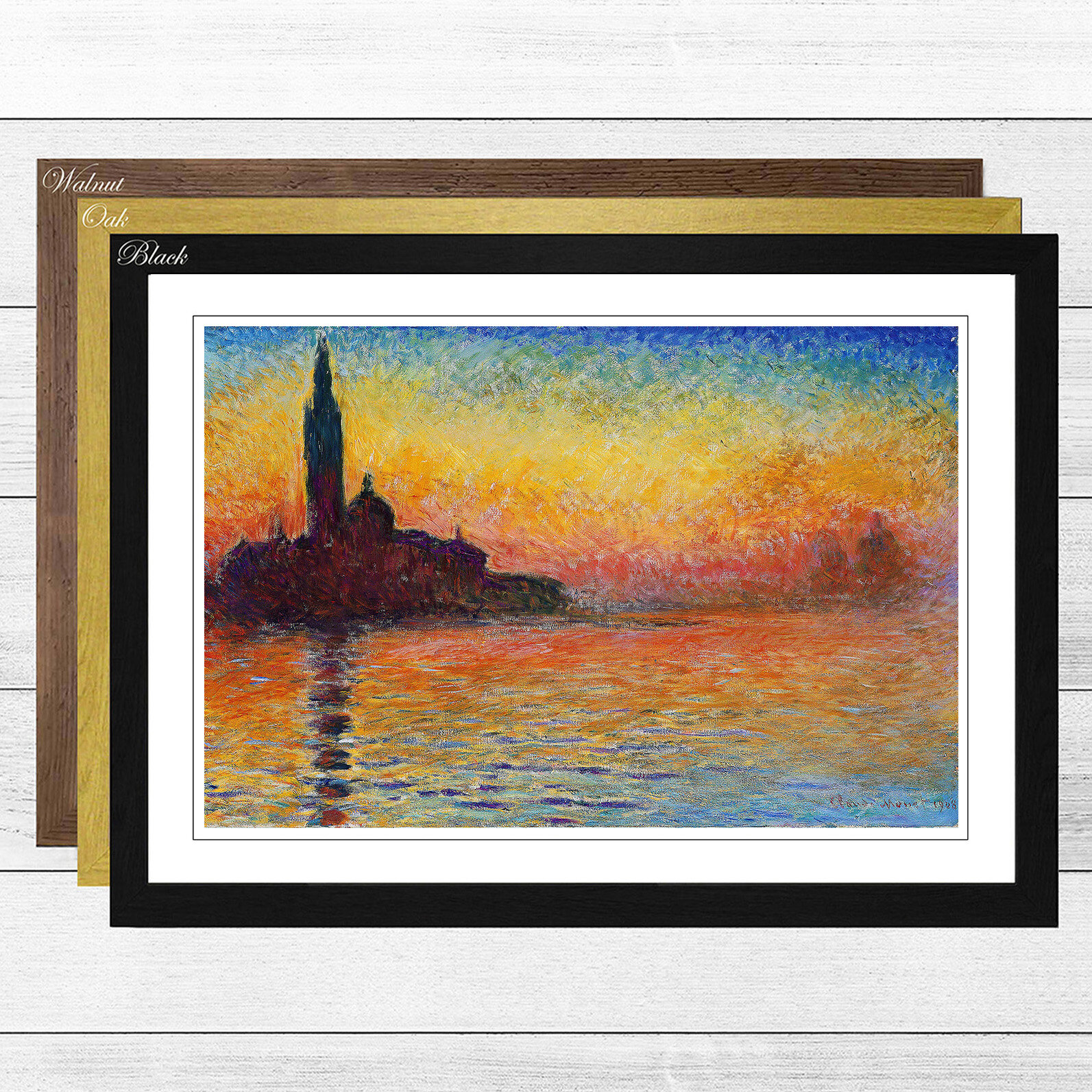 Box Art San Giorgio Maggiore At Dusk By Claude Monet Framed Painting Print Wayfair Co Uk