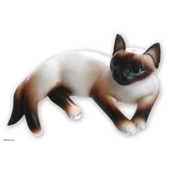 Novica Kitty Meditates Figurine & Reviews | Wayfair