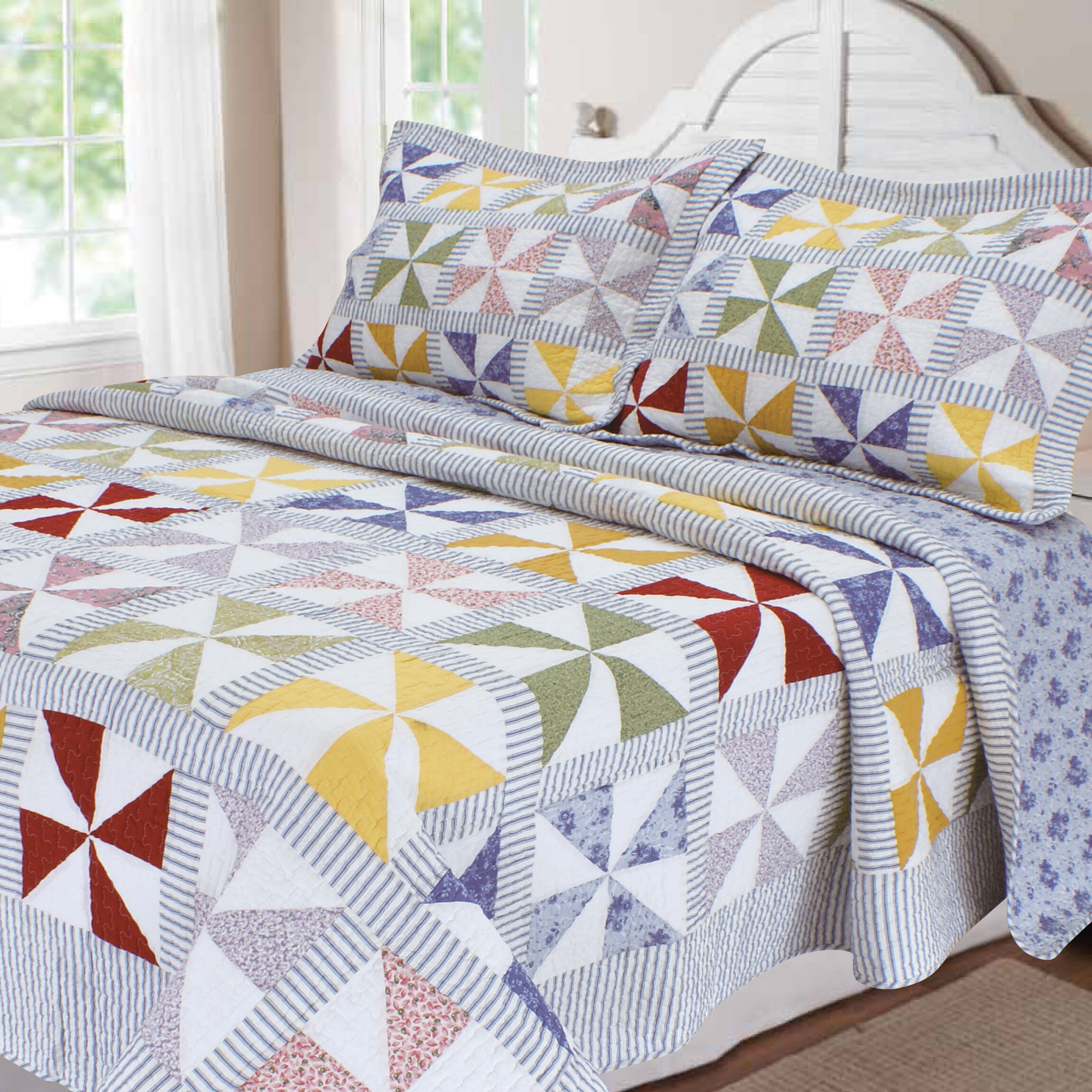 august grove goussainville patchwork quilt collection | wayfair