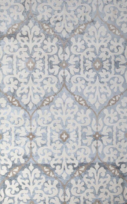 romano handwoven light blue indoor area rug
