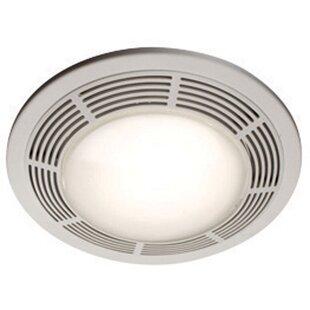 Ceiling Ventilation 100 CFM Bathroom Fan With Light