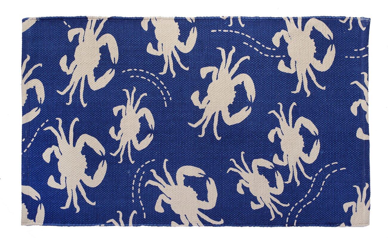 Crab Blue Area Rug
