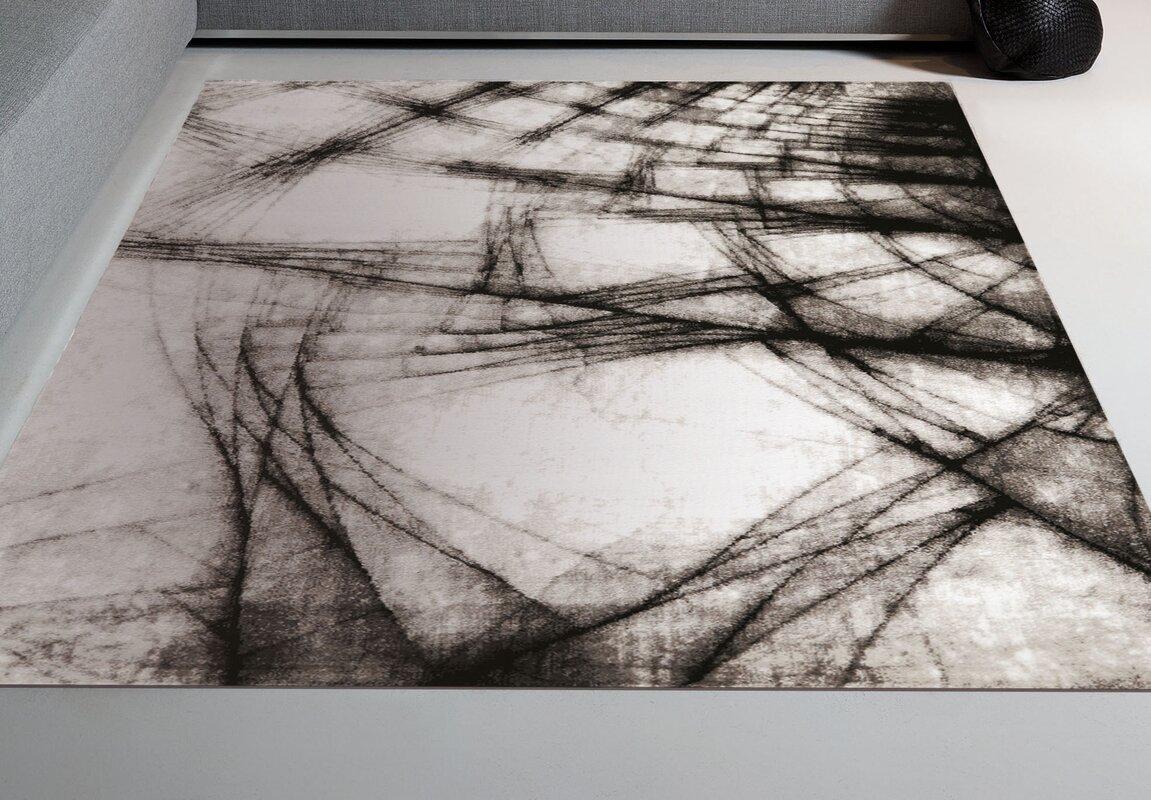 trent austin design arden blackwhite area rug  reviews  wayfair - defaultname