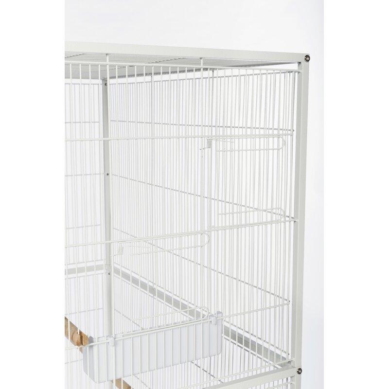 Bon Hesson Flight Bird Cage With Storage Shelf