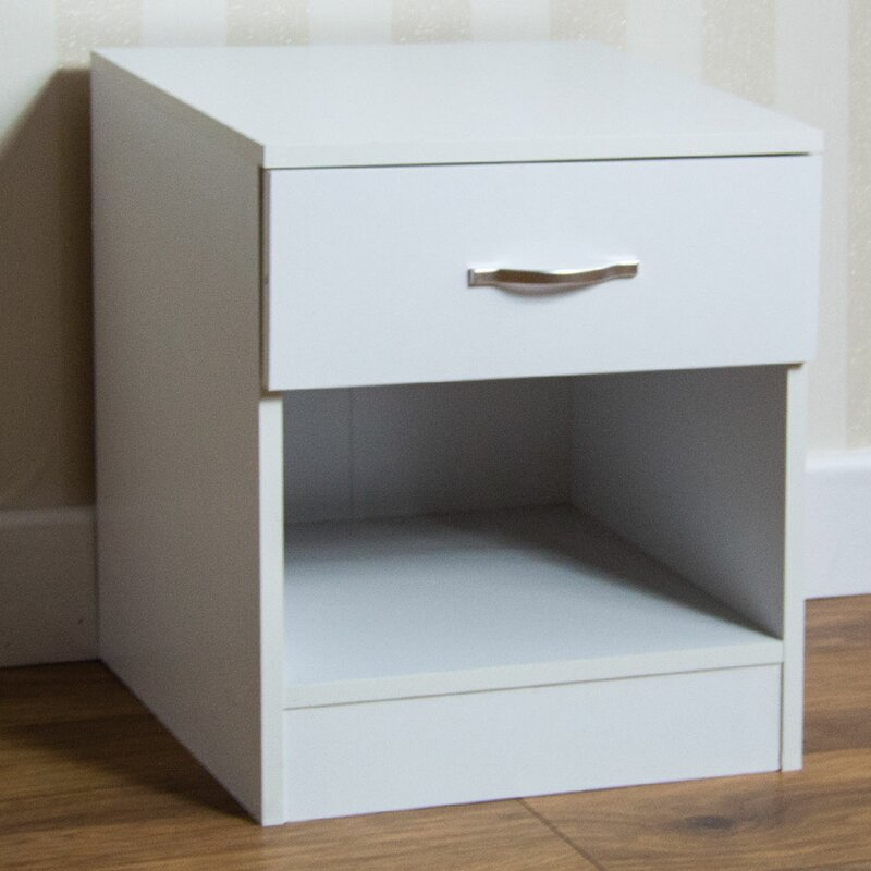 Agirta 1 Drawer Bedside Table by 17 Stories