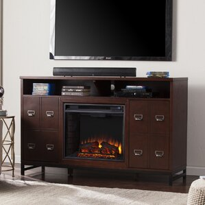 Yadhu Media Stand Electric Fireplace by Grac..