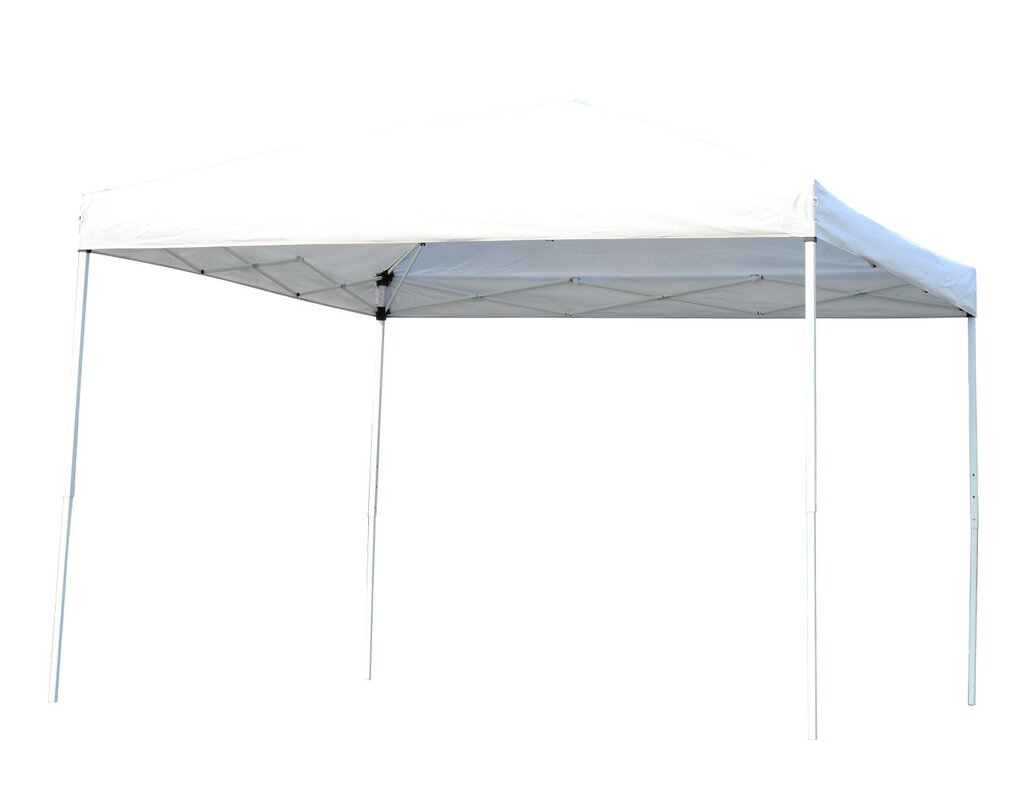 10 Ft. W x 10 Ft. D Steel Pop-Up Canopy with Mesh  sc 1 st  Wayfair : 8x10 pop up canopy - memphite.com