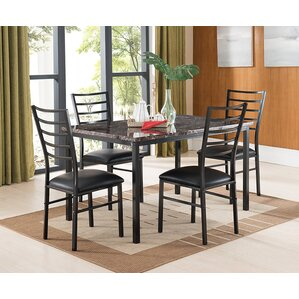 Kandi 5 Piece Dining Set by Latitude Run