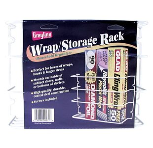 Saran Wrap And Aluminum Foil Cabinet Door Organizer